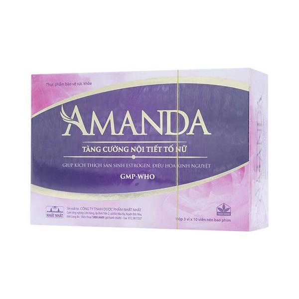 Viên Uống Tăng Cường Nội Tiết Tố Nữ Amanda 30 Viên