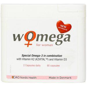 Viên Uống Hỗ Trợ Sức Khỏe Tim Mạch Phụ Nữ Womega For Woman 60 Viên