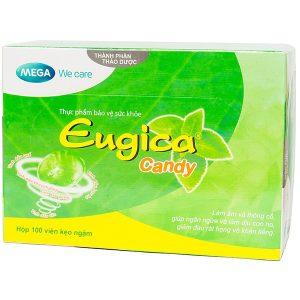 Kẹo Ngậm Thảo Dược Giảm Ho Eugica Candy 100 Viên