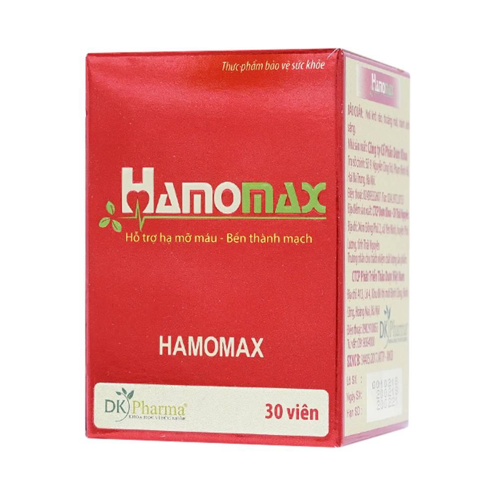 Hamomax hạ mỡ trong máu