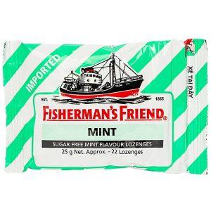 Kẹo Cay Con Tàu Không Đường Fisherman's Friend Mint (Vị Bạc Hà) 25G