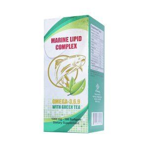 Viên Dầu Cá Trà Xanh Omega 3 6 9 With Tea Marine Lipid Complex 100 Viên