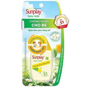Sữa Chống Nắng Cho Bé Và Da Nhạy Cảm Sunplay Baby Mild Spf 35/pa++ 30G