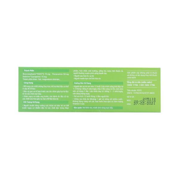 Viên Uống Thải Độc Xanh Detox Green Mediplantex 30 Viên