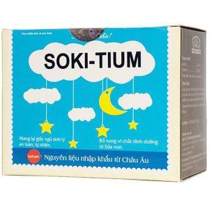 Soki-Tium 12 Gói - Bột Hòa Tan Giúp Trẻ Ngủ Ngon