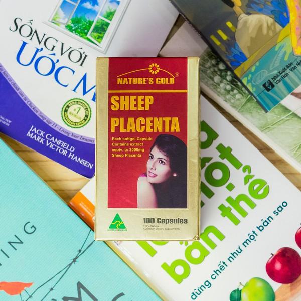 Nhau Thai Cừu Úc Sheep Placenta Nature's Gold 100 Viên