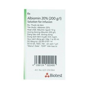 Albiomin 20%(200G/i) 50Ml