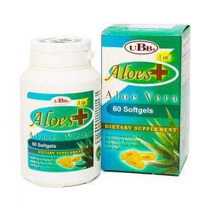 Viên Uống Đẹp Da Ubb Aloes Plus 3 In 1 60 Viên