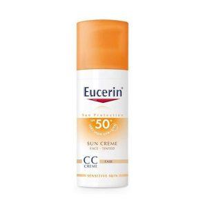 Kem Chống Nắng Trang Điểm Eucerin Sun Creme Face Tinted Cc Fair Spf 50+ Uvb+Uva 50Ml