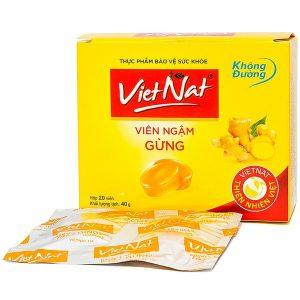Kẹo Gừng Vietnat Không Đường 20 Viên