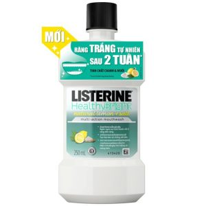 Nước Súc Miệng Listerine Healthy Bright 250Ml
