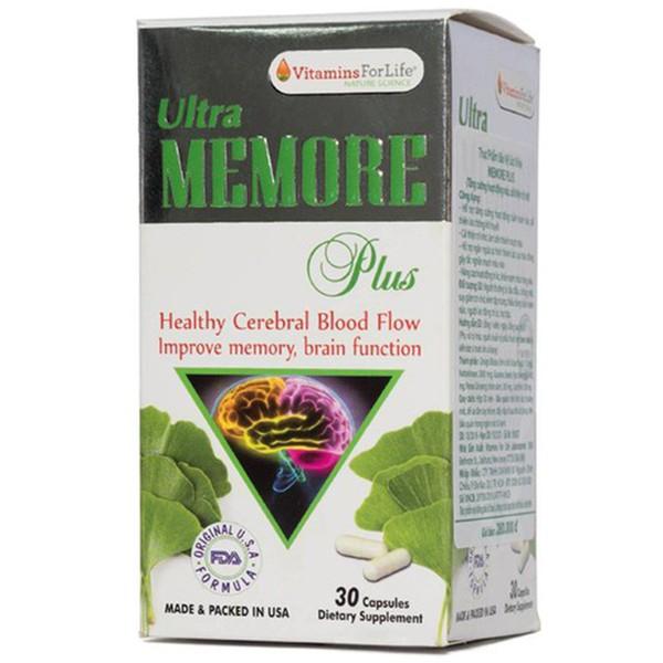 Viên Uống Tăng Cường Tuần Hoàn Não Ultra Memore Plus Vitamins For Life 30 Viên