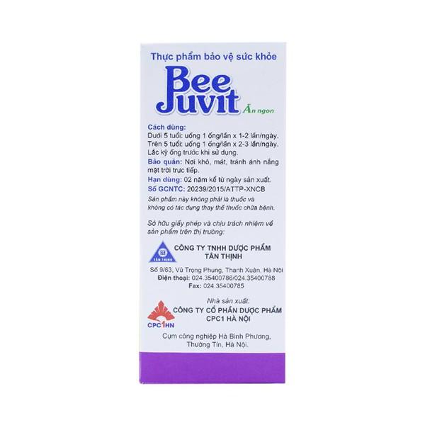 Dung Dịch Uống Bee Juvit Ăn Ngon Ống 10Ml