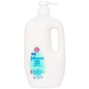 Sữa Tắm Dưỡng Ẩm Johnson's Baby Bath Milk+Rice 1 Lít