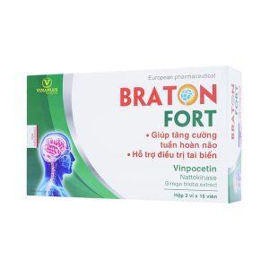 Viên Uống Tăng Cường Tuần Hoàn Não Braton Fort Vinaplus 30 Viên