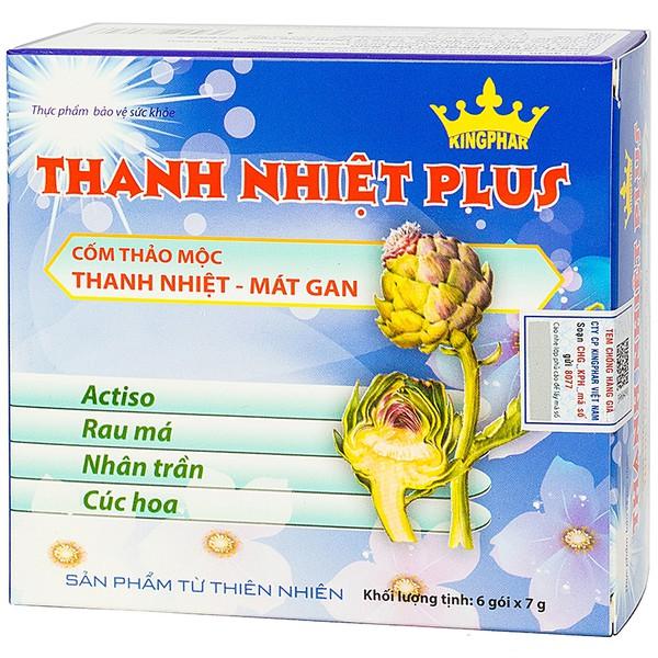 Cốm Thảo Mộc Giải Độc, Mát Gan Thanh Nhiệt Plus Kingphar