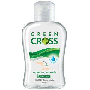Gel Rửa Tay Khô Green Cross Hương Trà Xanh 100Ml