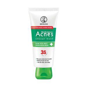 Kem Rửa Mặt Ngăn Ngừa Mụn Rohto Acnes Creamy Wash 50G