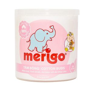Tăm Bông Merigo 330 Que (Tròn)