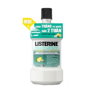 Nước Súc Miệng Listerine Healthy Bright 750Ml
