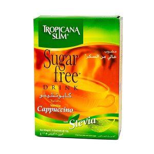 Cà Phê Ăn Kiêng Cappuccino Vanilla Stevia Tropicana Slim Sugar Free 8 Gói X 12G