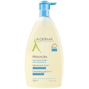Sữa Tắm Gội Cho Bé A-Derma Primalba Gentle Cleansing Gel 500Ml