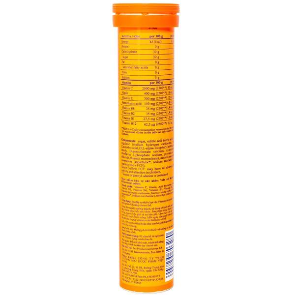 Viên Sủi Multi-Vitamin Effer-Vescent Tablets Haas Hương Cam 20 Viên