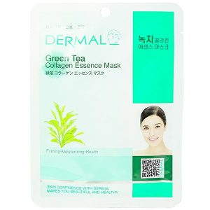 Mặt Nạ Dermal Tinh Chất Collagen Trà Xanh 23G
