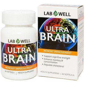 Viên Uống Cải Thiện Trí Nhớ Ultra Brain Lab Well 60 Viên