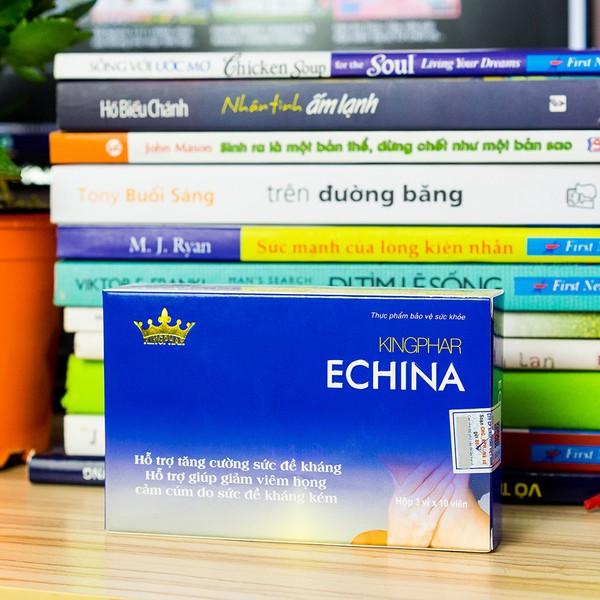 Viên Uống Hỗ Trợ Điều Trị Viêm Họng Echina Kingphar 30 Viên