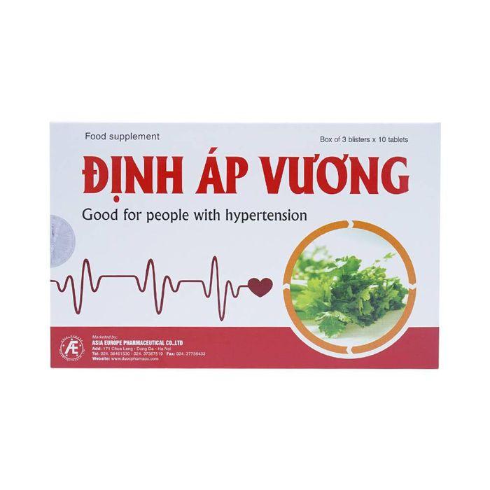 Định Áp Vương giúp ổn định huyết áp nhanh chóng