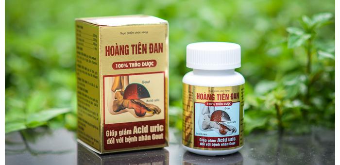 Hoàng Tiên Đan hạ Acid Uric cho người mắc bệnh Gout