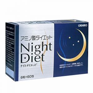 Viên uống giảm cân Night Diet Orihiro Hộp 60 gói Nhật Bản