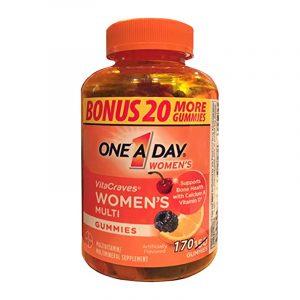 Kẹo Vitamin One A Day Women's Vitacraves Gummies 170 viên
