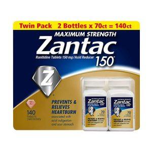 Viên uống hỗ trợ dạ dày Zantac 150mg Maximum Strength 140 viên