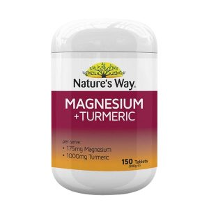Viên uống Nature's Way Magnesium + Turmeric 150 viên của Úc