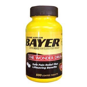 Viên giảm đau hạ sốt Bayer Aspirin The Wonder Drug 325mg