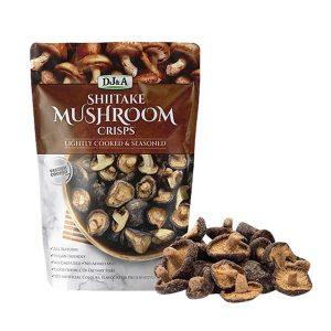 Snack nấm sấy giòn Shiitake Mushroom Crisps 150g Úc