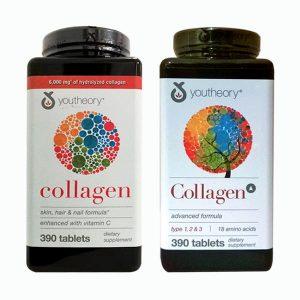 Collagen Youtheory Type 1 2 & 3 390 Viên Của Mỹ-Collagen Không Biến Tính